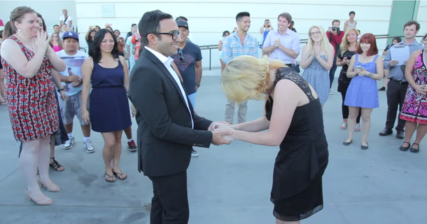 Man Surprises His Girlfriend After 4 Months Apart With Wonderful 'RENT' Proposal